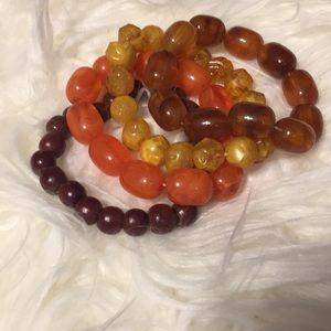 Jewelry - 4 Autumn Tone Bracelets! Wear Alone or as a Set!